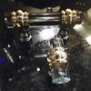 """SignatureThings.com Brass Hardware Classic Barrel Ring Lucite Pull - 3/4"""" D"""